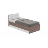 Кровать Аманда А-0.9 1-спальная (Ясень шимо тёмный/Ясень шимо светлый)